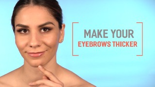 Make your eyebrows thicker - Video