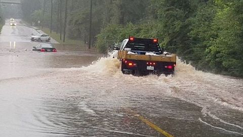 Cars Swamped By Severe Flooding in Atlanta