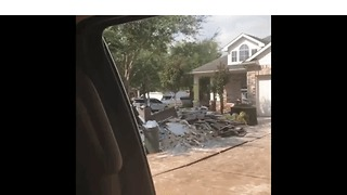 Houston Area Residents Begin Clean Up After Harvey - Video