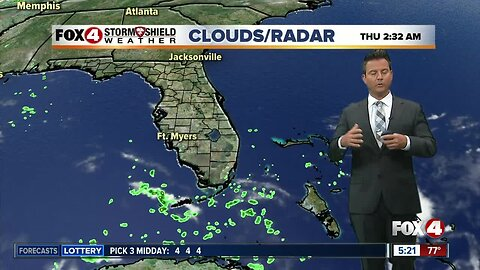 Scattered Storms On Thursday