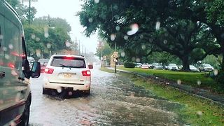 Flash Floods Hit Lafayette, Louisiana