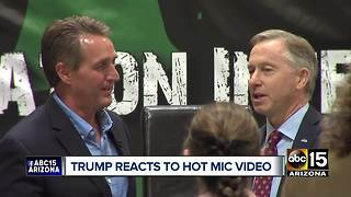 President Donald Trump responds to Sen. Flake's hot-mic diss - Video