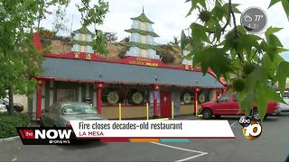 Fire closes decades-old restaurant in La Mesa - Video