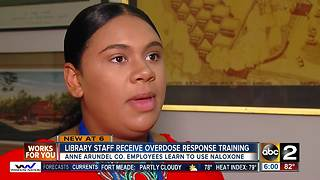AACo Library staff receive overdose response training - Video