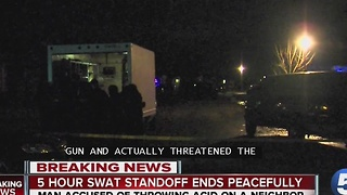 SWAT STANDOFF ENDS PEACEFULLY