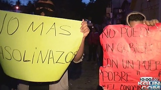 Protests errupt in Mexico over high gas prices - Video