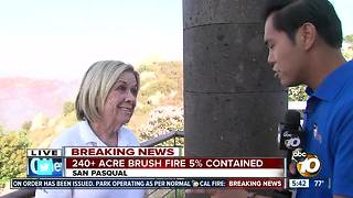 Fire zone residents wait to evacuate - Video