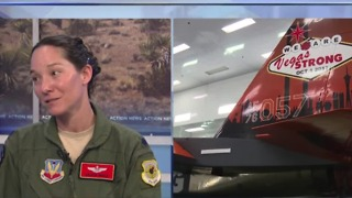 Sneak peek at Aviation Nation 2017 with Lt Col Kristin Wehle - Video