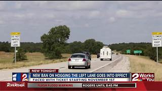 New ban on left lane drivers - Video