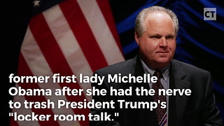 Rush Revealed Michelle's Perverted Past After She Trashed Trump - Video