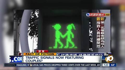 Traffic signal man gets a girlfriend?