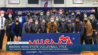 Marian wins volleyball title days after AD's death