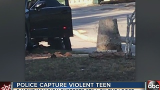 Police capture violent teen after home invasion in New Port Richey - Video