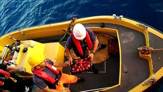 Food And Medicine Delivered To Migrant Rescue Boat in Mediterranean - Video