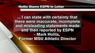 Former MSU athletic director slams ESPN report - Video
