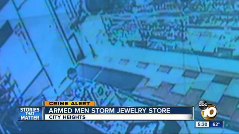 City Heights jewelry store robbed at gunpoint