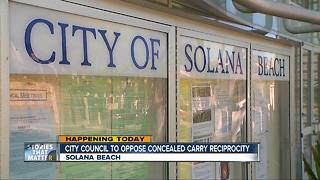 Solana Beach Council Takes Up Gun Control Debate - Video