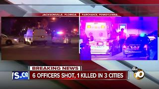 6 officers shot, 1 killed - Video