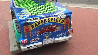 Truck sculptures decorate downtown - Video