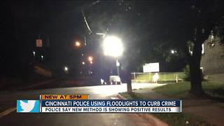 Cincinnati police using floodlights to curb crime - Video