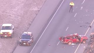 Fatal crash closes U.S. 95, near Kyle Canyon - Video