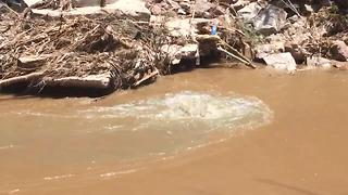 RAW VIDEO: Untreated waste flowing into Nogales Wash following pipe breach - Video