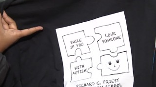 North Las Vegas girl makes shirts to recognize peers with autism - Video