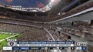 Stadium construction exceeds hiring goals - Video