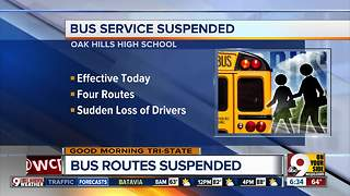Bus service suspended for Oak Hills students