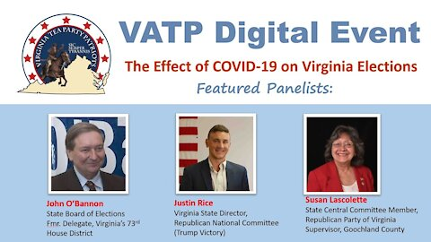 VATP Digital Event Effect of COVID 19 on Virginia Elections
