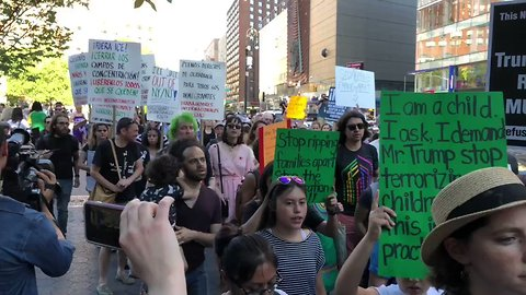 Crowds March Through New York City to Protest Border Separations