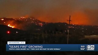 'Sears Fire' continues growing near Cave Creek