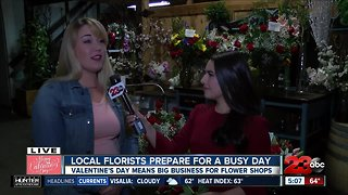 Valentines Day at Bakersfield Flower Market