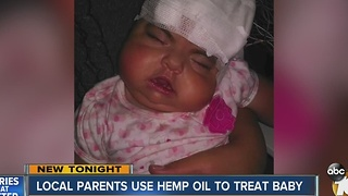 Local parents use hemp oil to treat baby - Video