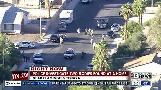 Las Vegas police find 2 bodies near Flamingo, Tenaya - Video
