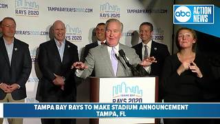 Rays announce desire to move to new stadium in Ybor City - Video