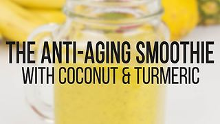 Anti-aging coconut & turmeric smoothie recipe - Video