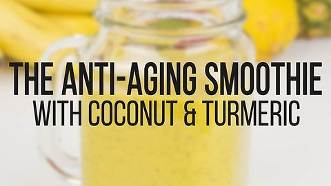 Anti-aging coconut & turmeric smoothie recipe