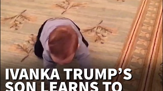 Ivanka Trump's Son Learns To Crawl In The White House - Video