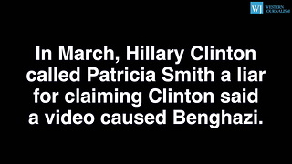 Hillary Clinton AGAIN Calls Benghazi Victim's Mom A Liar - Video