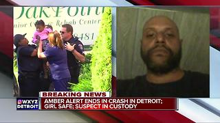 2-year-old Detroit girl safe after AMBER Alert; suspect arrested after chase - Video