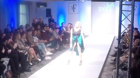 TV's Gillian McKeith makes catwalk appearance