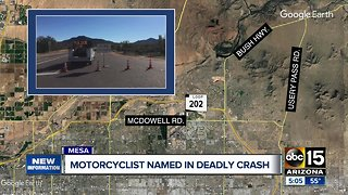 Motorcyclist killed in crash on Usery Pass Road identified