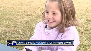 8-year-old athlete raising awareness about inclusive sports