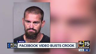 Alleged burglar busted after surveillance video posted on Facebook - Video