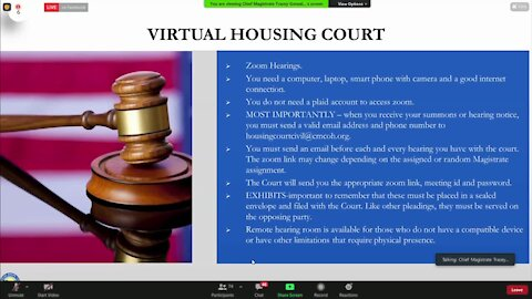 Cleveland Housing Court holds virtual tenant information clinic