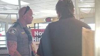 Police Officer Buys Meal for Homeless Man After Being Called to Fast Food Restaurant