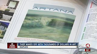 Painting worth thousands stolen from art gallery - Video