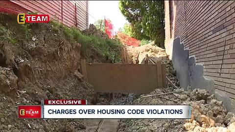 Charges over housing code violations