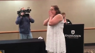Mom Get Huge Surprise at her Nursing School Graduation - Video